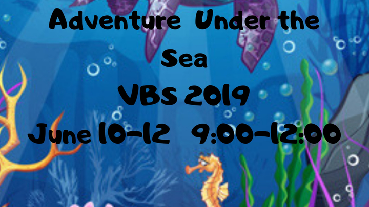 VBS 2019  *Adventures Under The Sea* logo image