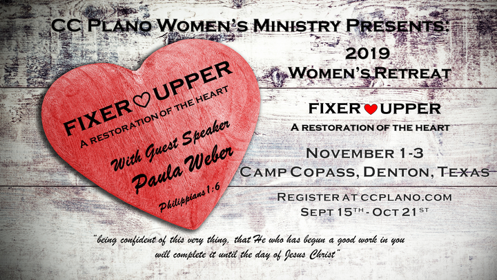 "2019 Women's Retreat ""Fixer Upper"" Registration Opens 9/15/19 @ 6:00am logo image"