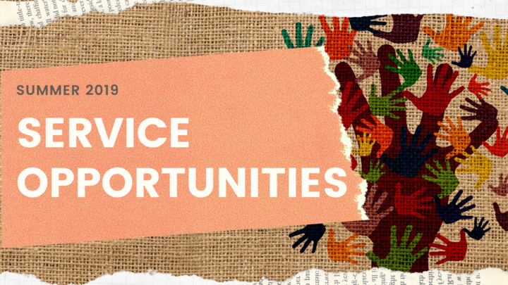 SERVICE OPPORTUNITIES SUMMER 2019 logo image