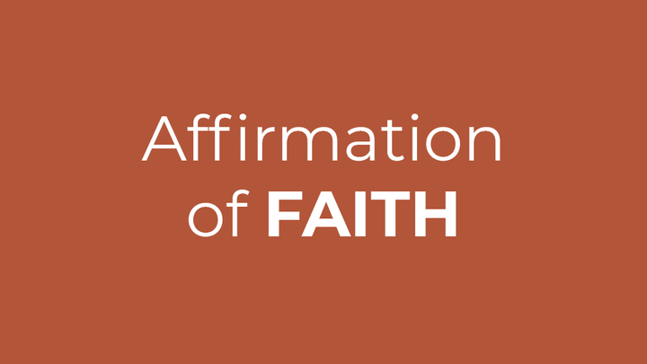 Affirmation of Faith Fall 2019 logo image