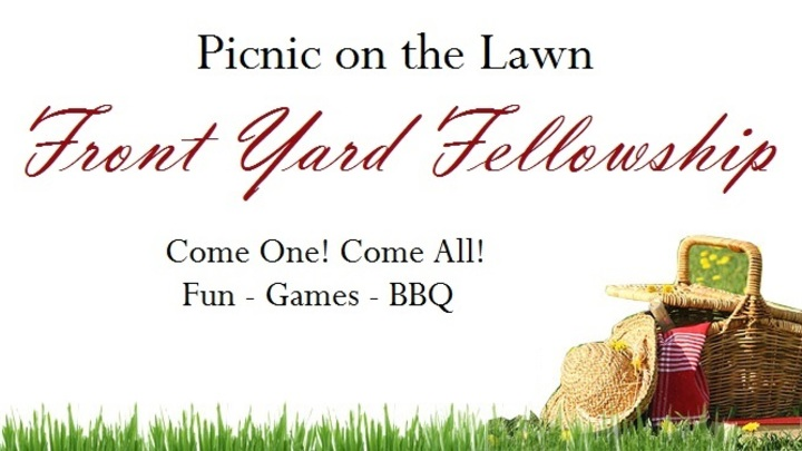 Front Yard Fellowship -- Free BBQ: Tuesday, August 20th! logo image