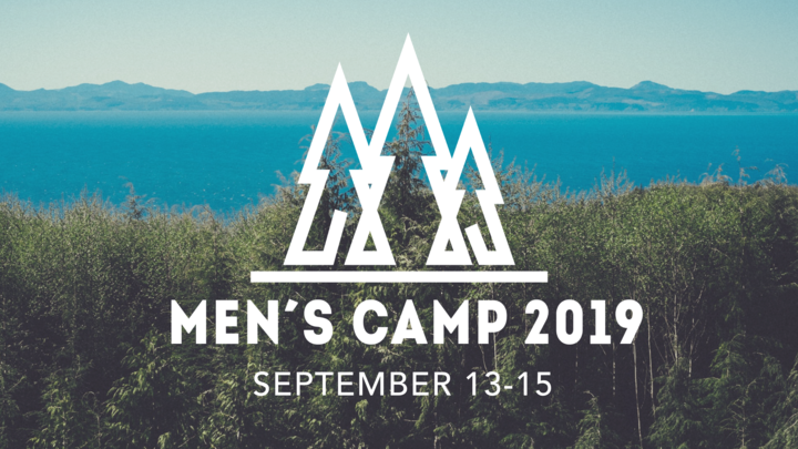 "2019 Men's Camp - ""We are Fishers of Men"" logo image"