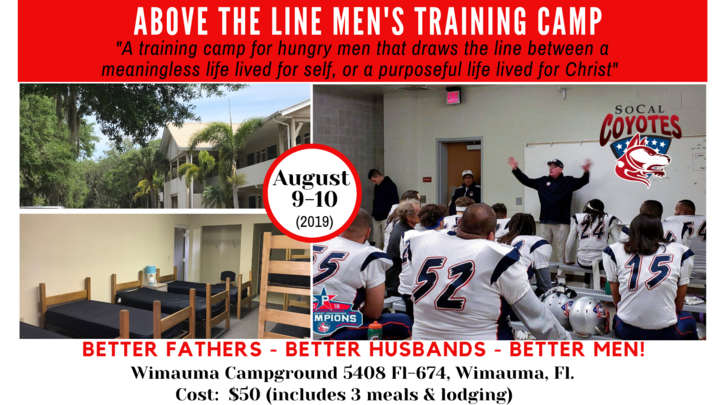 """Above The Line"" Men's Training Camp logo image"