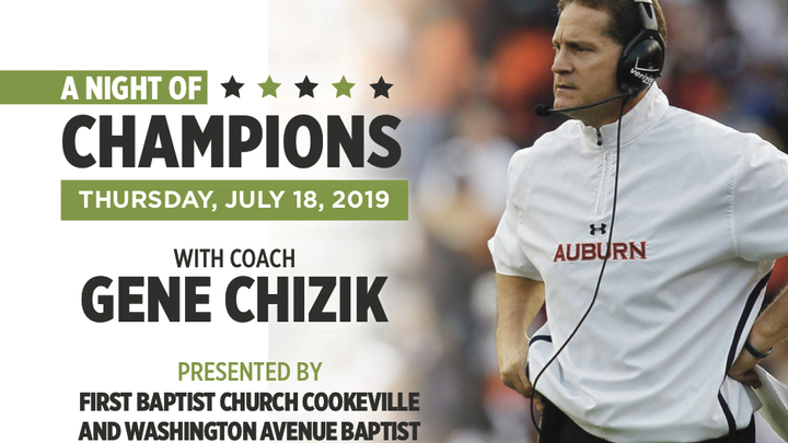 A Night of Champions with Guest Gene Chizik logo image