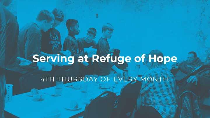 Serving Meals at Refuge of Hope logo image