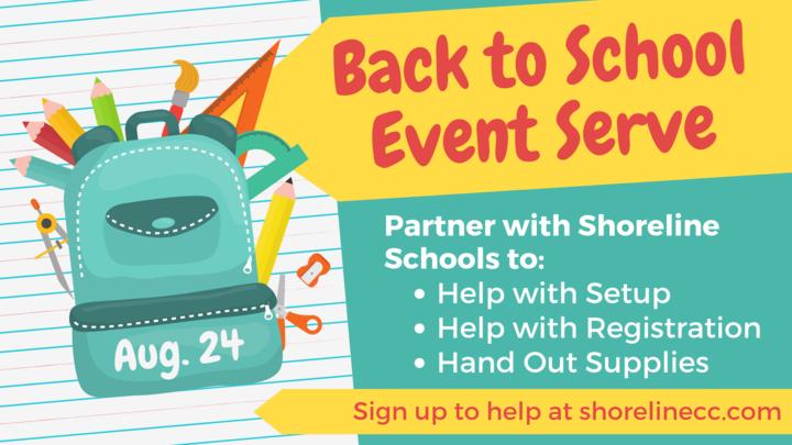 """Back to School Event"" Serve logo image"