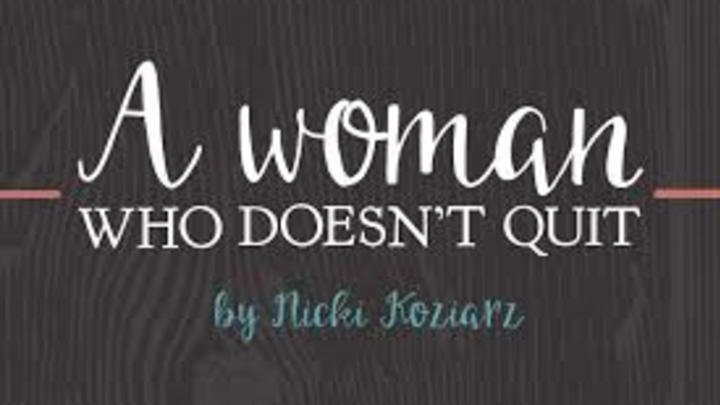Summer Bible Study: A Woman Who Doesn't Quit by Nicki Koziarz logo image