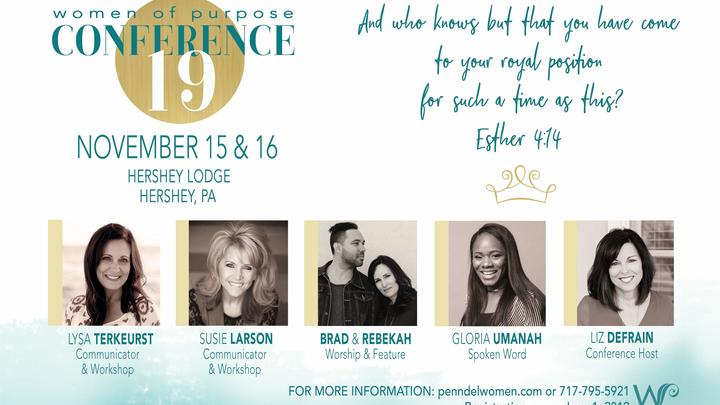 Women of Purpose Fall Conference - November 15-16 logo image