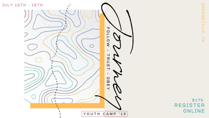 Youth Camp 2019 | Journey: Follow, Trust, Obey logo image