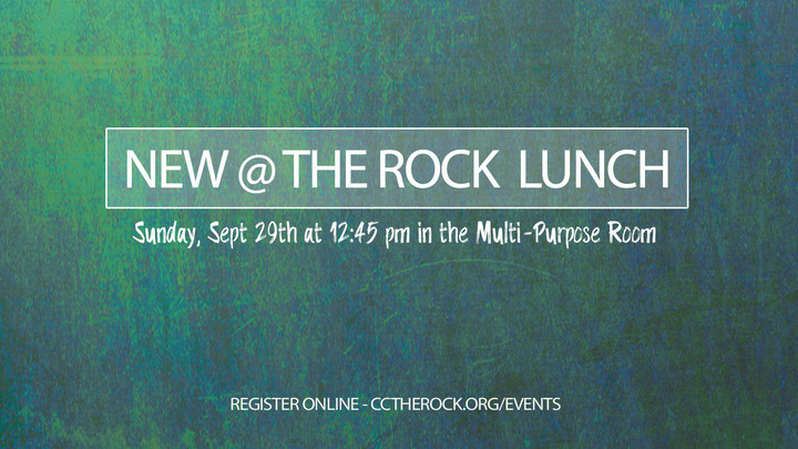 New @ The Rock Lunch logo image