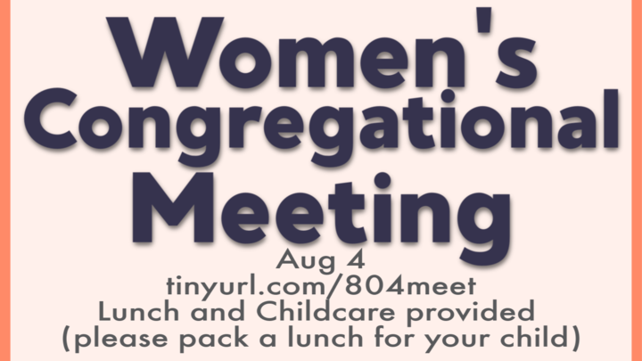 Women's Congregational Meeting logo image