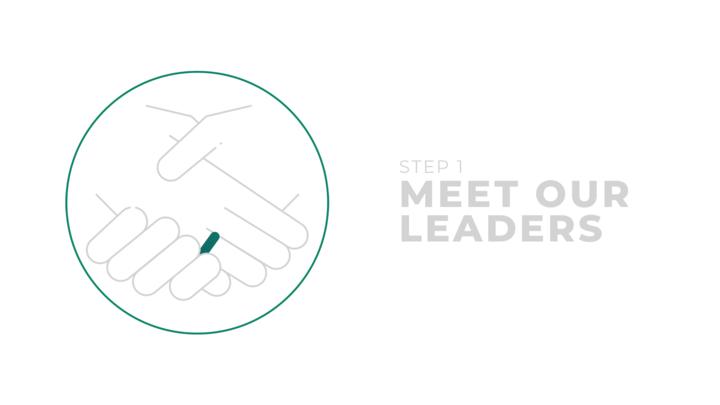 Step 1: Meet Our Leaders logo image