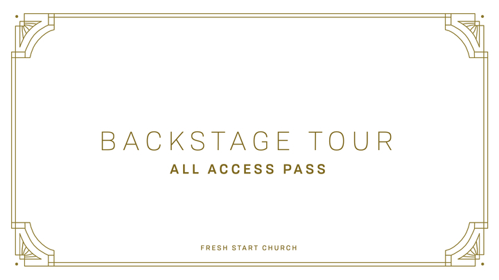Back Stage Tour September 2019 logo image