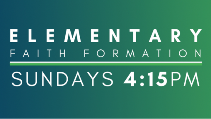 Sunday 4:15 Elementary Faith Formation logo image