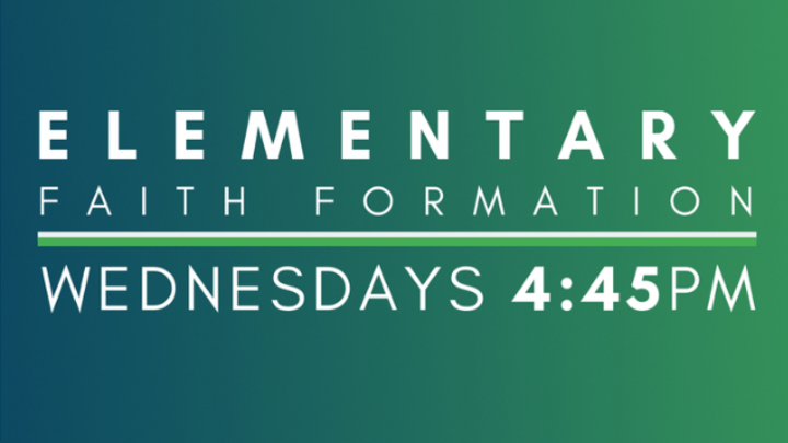 Wednesday 4:45 Elementary Faith Formation logo image
