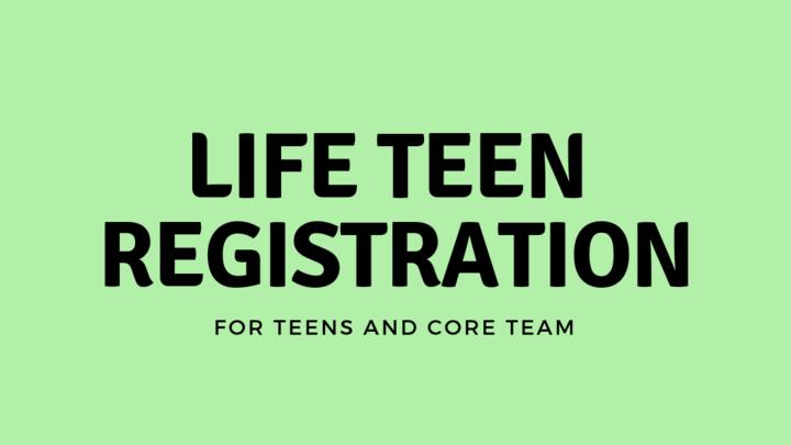 2019-2020 Life Teen Registration logo image