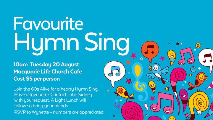 60s Alive Hymn Sing logo image