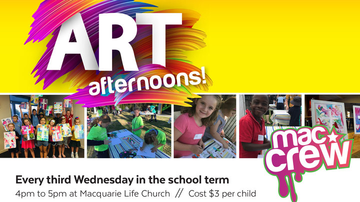 MacCrew Art Afternoons logo image
