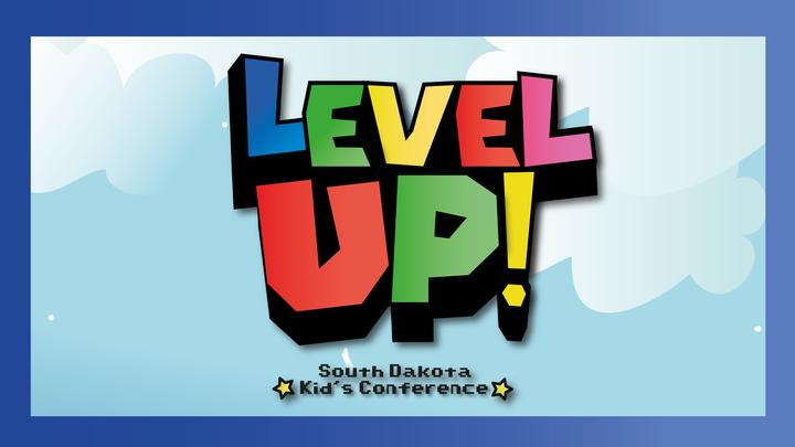 """Level Up!"" Kid's Conference logo image"