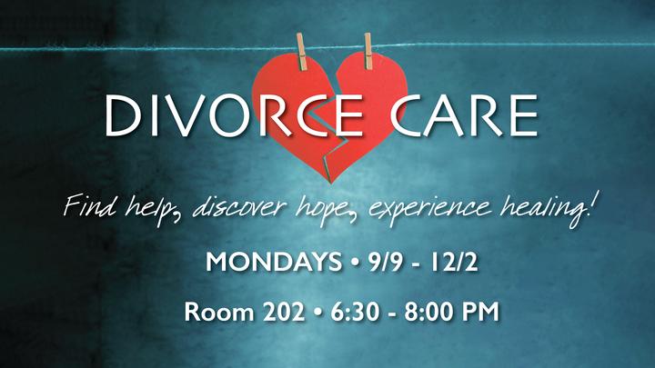 DivorceCare - Mondays, September 9 - December 2, 6:30-8 PM logo image