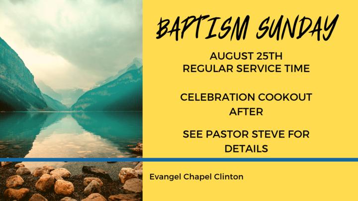 BAPTISM SUNDAY (Clinton Campus) logo image