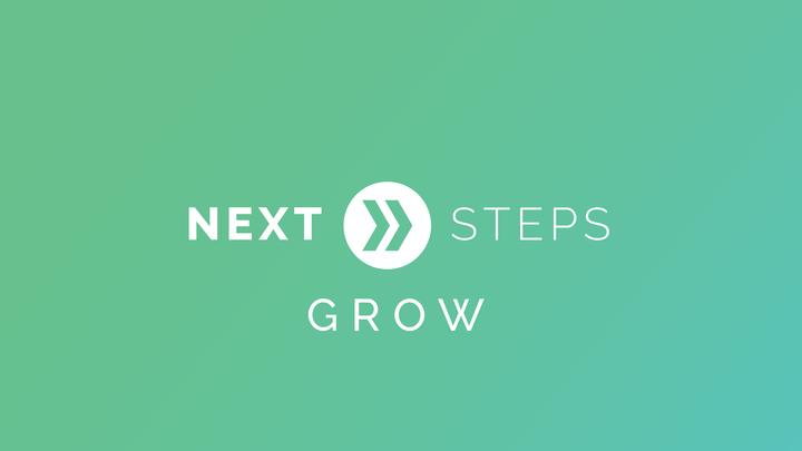 Next Steps: Grow logo image