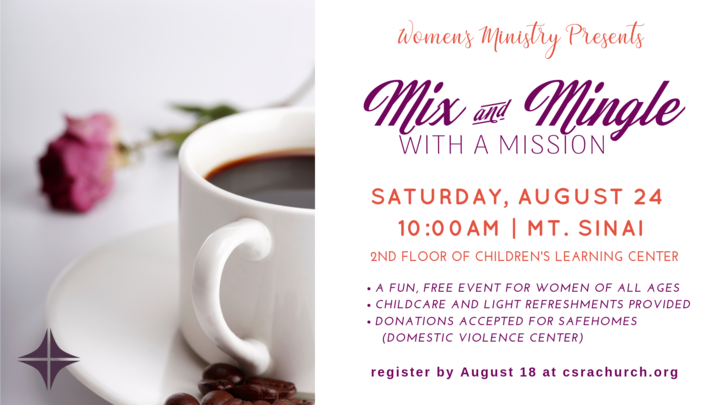 Women's Mix & Mingle with a Mission August 2019 logo image