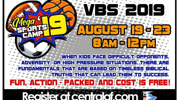 MEGA Sports Camp - VBS 2019 logo image