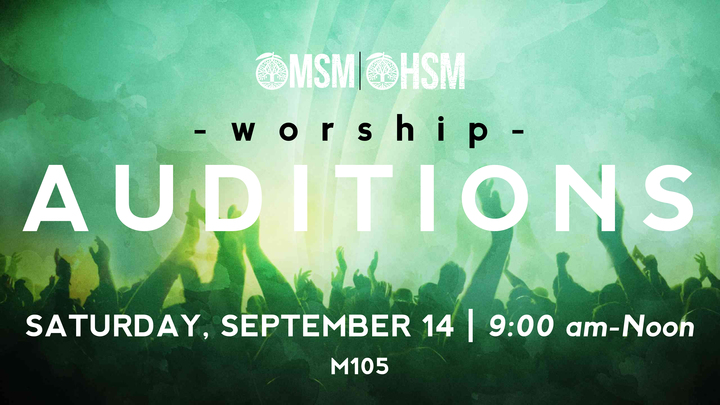 Student Ministries Worship Auditions logo image