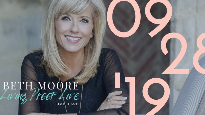 Beth Moore Living Proof Live Simulcast logo image