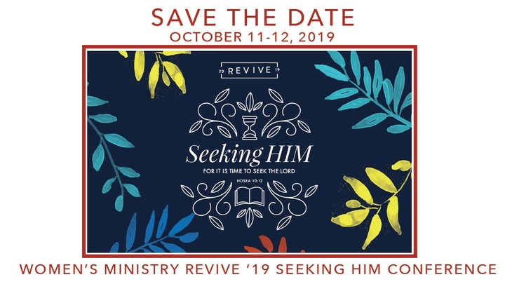 Revive 2019 Video Conference: Seeking Him logo image