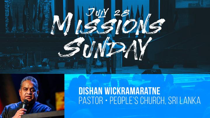 Missions Sunday/Guest Speaker Dishan Wickramaratne logo image