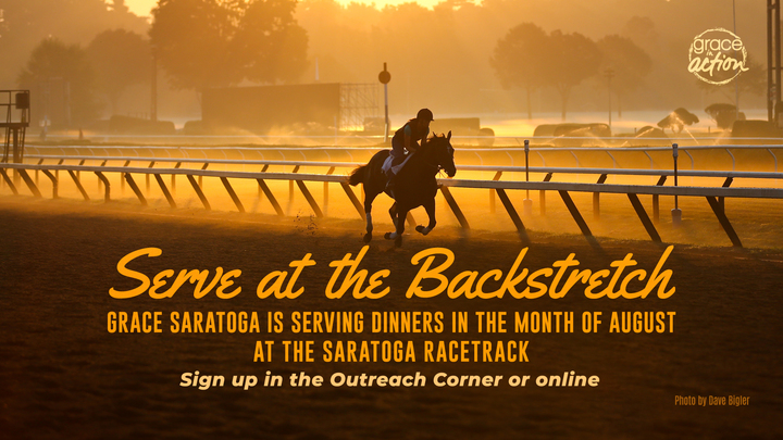 Serving at the Saratoga Race Track Backstretch  logo image