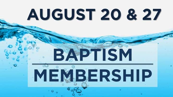 NEW MEMBER/BAPTISM CLASS logo image