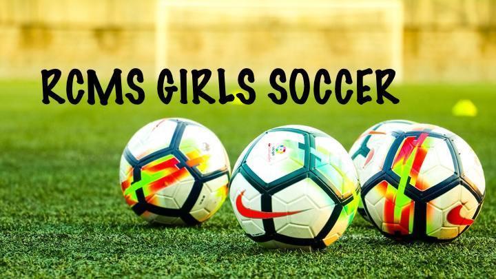 RCMS Girls Soccer Registration Fee 2019-20 logo image