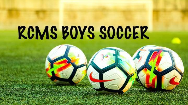 RCMS Boys Soccer Registration Fee 2019-20 logo image