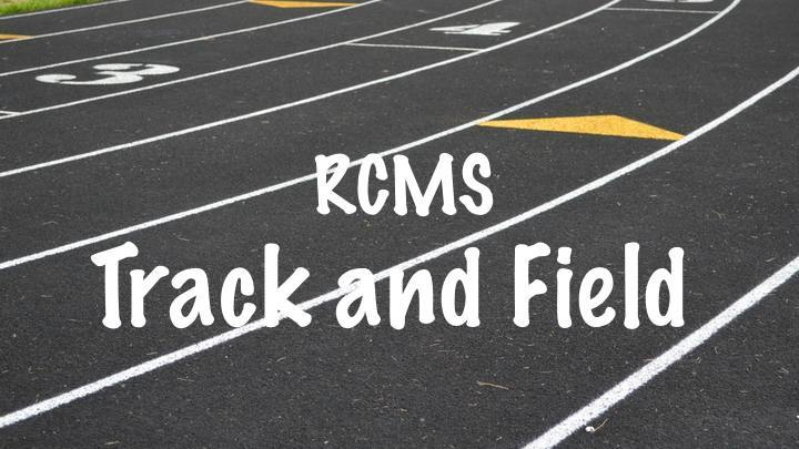 RCMS Track and Field Registration Fee 2019-20 logo image