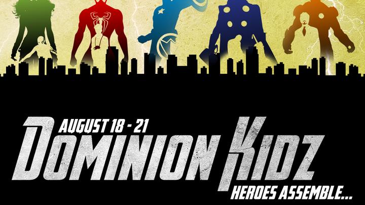 Superhero Dominion Kidz 2019 logo image