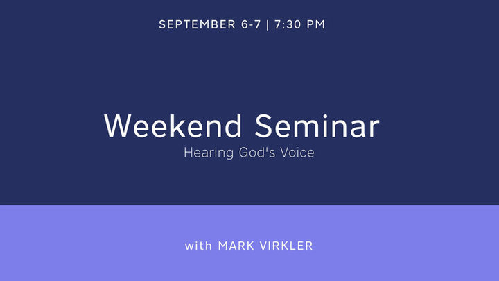 Weekend Seminar with Mark Virkler: Hearing God's Voice logo image