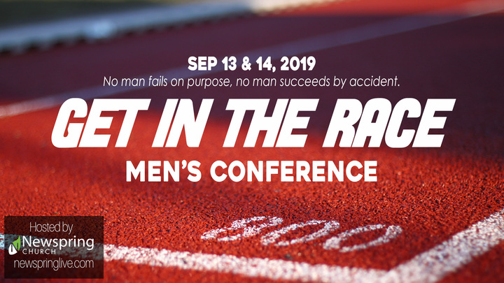Men's Conference | Get in the Race logo image