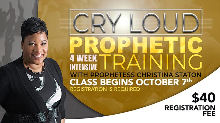 CRY LOUD: PROPHETIC TRAINING logo image