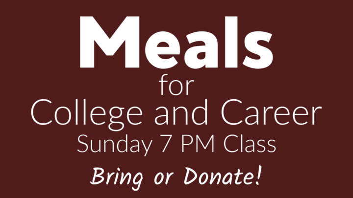 Meal for College and Career Sunday PM Class logo image