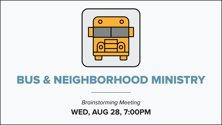 Bus & Neighborhood Ministry - Brainstorming Meeting logo image