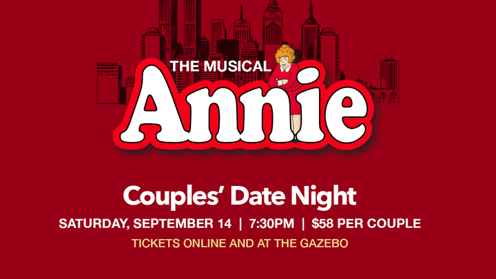 "Couples' Play ""Annie The Musical"" logo image"