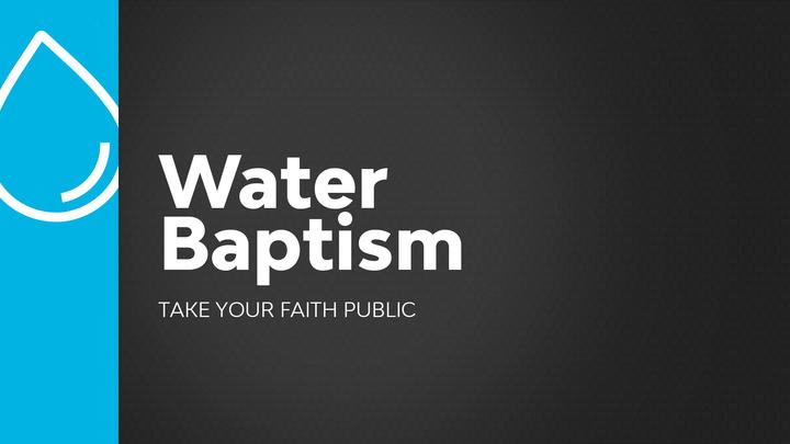 Water Baptism (January)  logo image