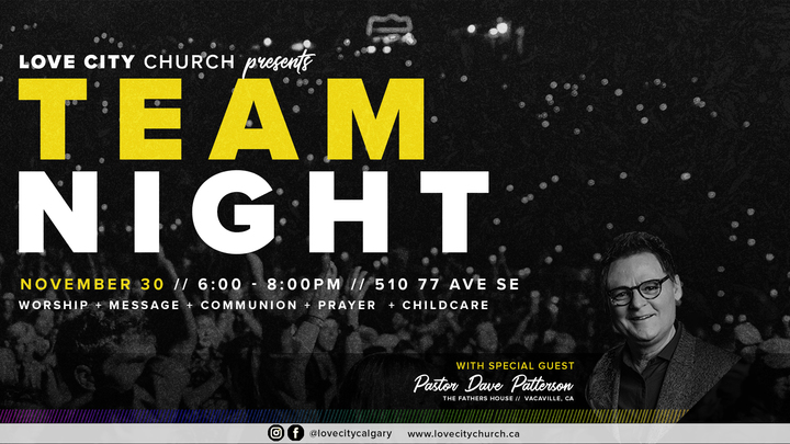 TEAM NIGHT WITH PASTOR DAVE PATTERSON logo image