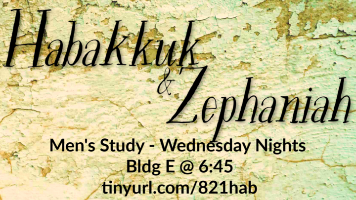 Men's Study: Habakkuk and Zephaniah logo image
