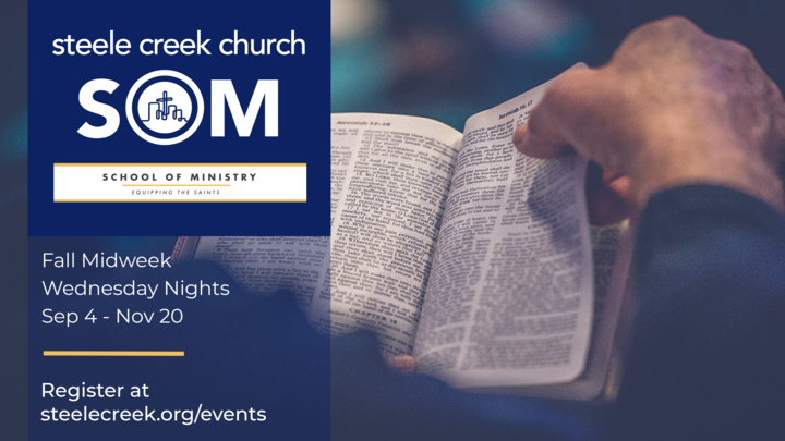 School of Ministry | Fall Midweek | Wednesday Nights 6:30pm logo image