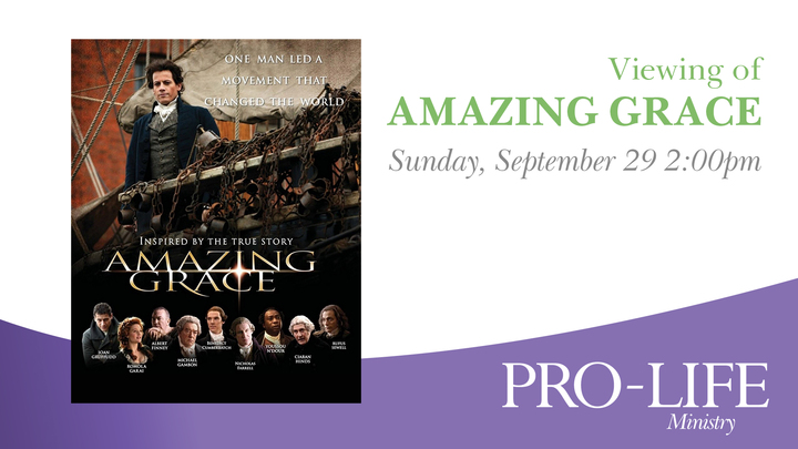 Amazing Grace Movie Showing - Pro Life Event  logo image