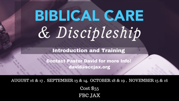 Biblical Care and Discipleship Training  logo image